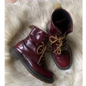 Dr. Martens burgundy boots